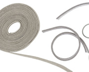 MAJR Products' EMI mesh gaskets or EMI wire mesh gaskets, available in several cross sections.