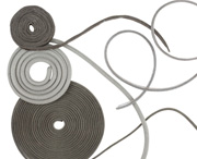 MAJR Products' mesh over elastomer core EMI gaskets that allow for compression while still providing shielding.