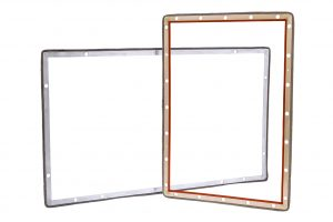 Rigid Mounting Frame EMI Shielding Gaskets consist of an aluminum extrusion with a specially designed jaw.