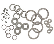 MAJR Products' EMI grounding washers (2500 series) are manufactured from knitted wire mesh stocking