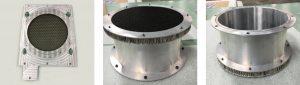 Custom EMI shielded vents for hardened enclosures.