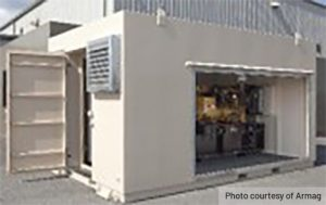 shielded generator building